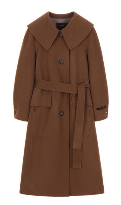 True Beauty Moon Ga Young brown long coat is trendy