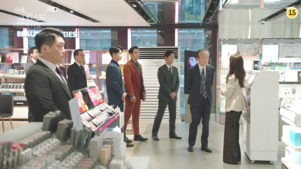 Ela nunca conheceria Won Jin Ah calças largas de lã superclassas
