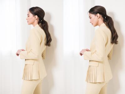 O terno da cobertura Kim Eugene é absolutamente elegante