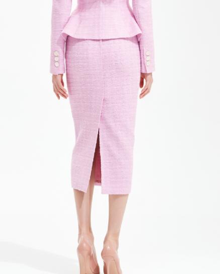 Penthouse Kim So yeon saia lápis de tweed verdadeiramente estilosa