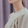Penthouse Kim So yeon blusa shirring de cetim definitivamente elegante