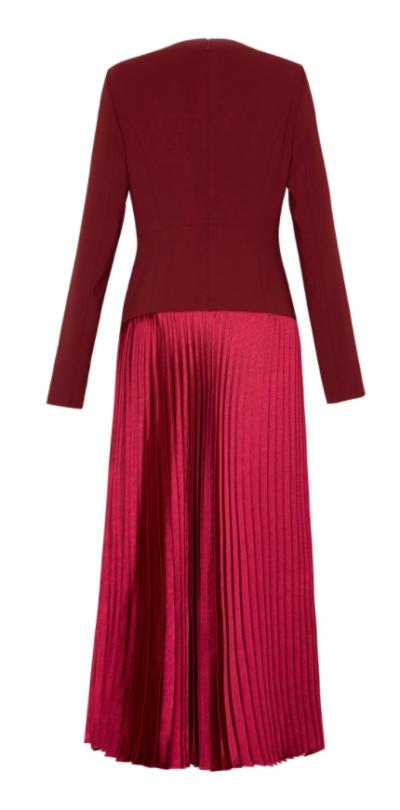 Penthouse Kim So yeon vestido plissado de cetim totalmente atraente