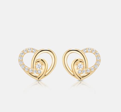 Penthouse Kim Eugene yellow gold heart earring super lovely