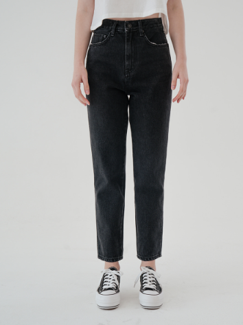 SISYPHUS Park Shin Hye jeans preto definitivamente notável