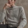 Vincenzo Song Joong Ki cashmere misturado com gola mok tricotada absolutamente elegante