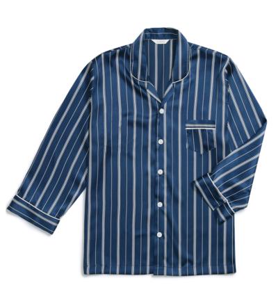 Pijama de listra Vincenzo Song Joong Ki Navy verdadeiramente estiloso