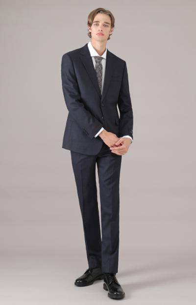 Vincenzo Song Joong Ki Navy Kustom fit terno completamente clássico