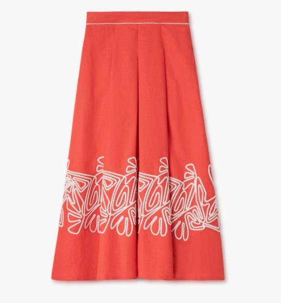 Mine Lee Bo Young LORO PIANA Dolly Skirt pasti elegan