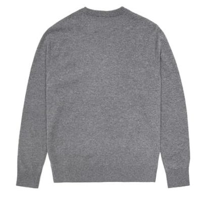 Le sweat-shirt imitation Jeong Ji So gris est absolument ravissant