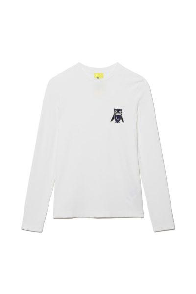 Dennoch Han So Hee Chouette Wappen Point Golgi Round T-Shirt ist total beliebt