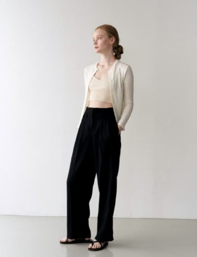 Hospital Playlist Jeon Mi Do Line Set-up Black Pants is absolutely elegant